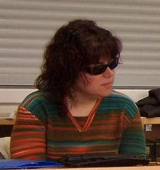 Fotografía non moi lucida da nosa benquedia compañeira Emma.