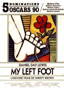 Cartel da película 'my lef foot' ('o meu pé esquerdo').