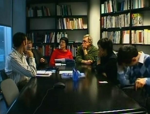 Fotografía da conferencia de Emmanuelle Gutierrez y Restrepo