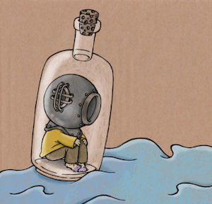 Alegoría da soidade (Debuxo por xentileza de J. Montiel).