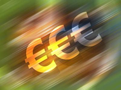 Imaxe alegórica dos cartos en euros costa arriba.