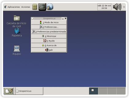 Imaxe dunha pantalla co sistema 'Lazarux'.