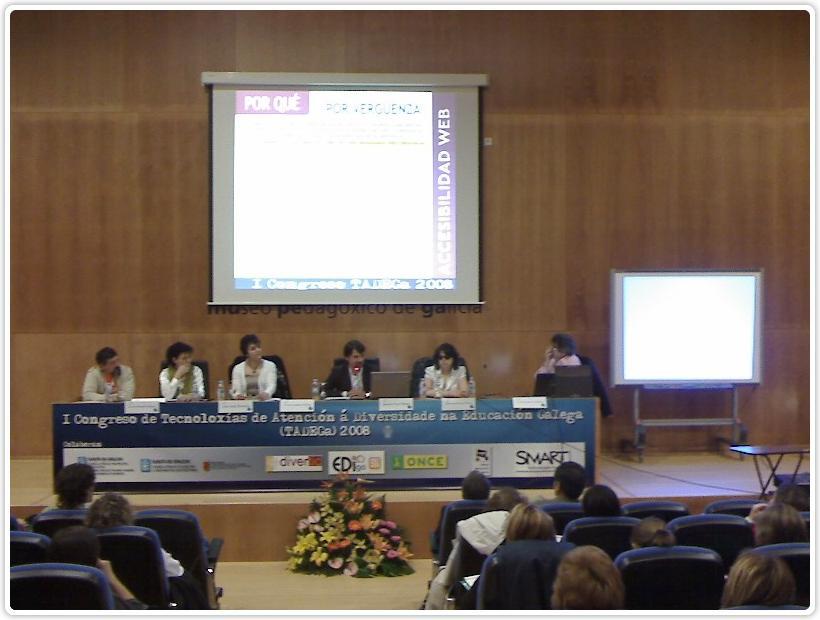 Fotografía da Mesa IV do Congreso TADEGa.