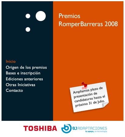 Imaxe do cartel dos premios romper barreras 2008.