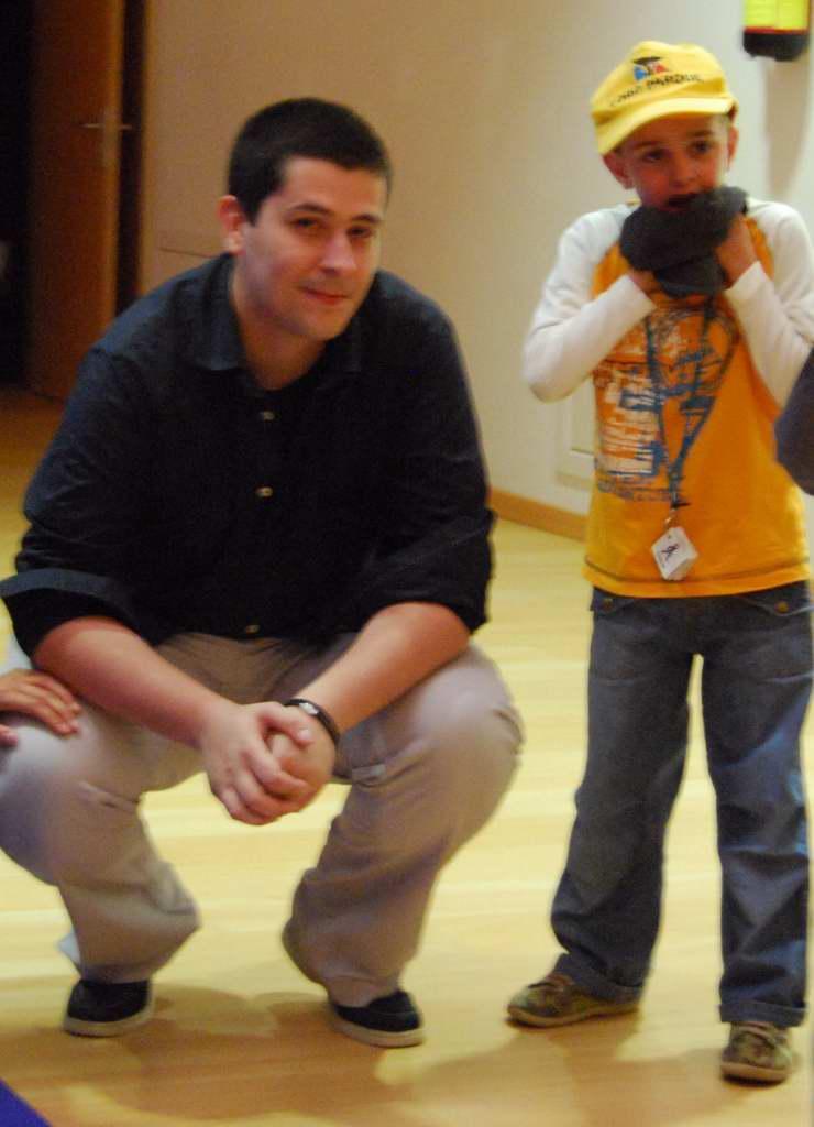 Iago con Iago Seara na presentación do Navegador Zac.
