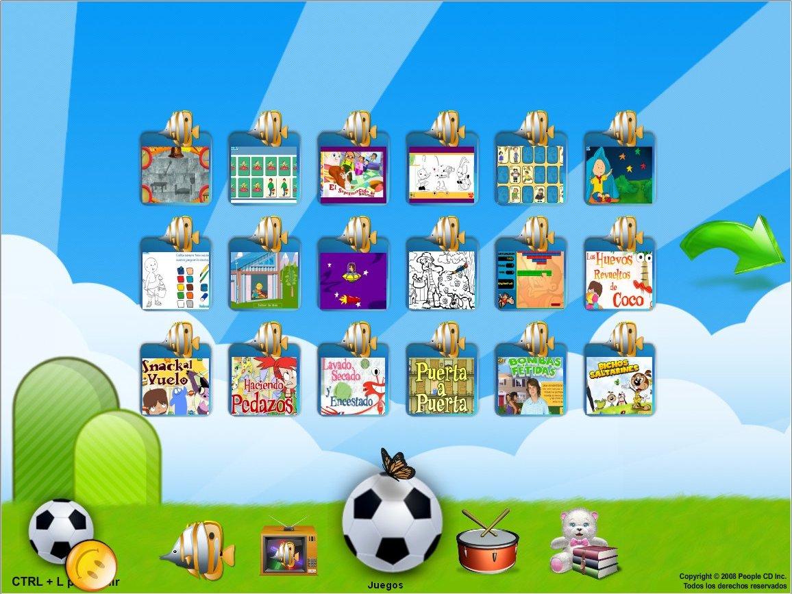 páxina de xogos no navegador Zac
