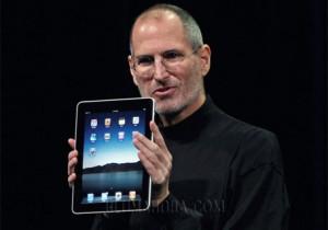 Imaxe do xefe de Apple cujn iPad na man