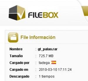 Detalle do cartaz do servizo de Filebox.
