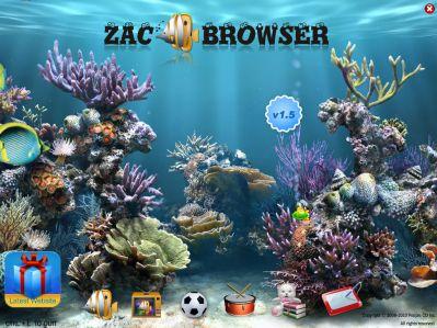 esceario da pantalla principal do ZacBrowser