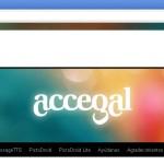 Pantalla inicial da web de accegal.org