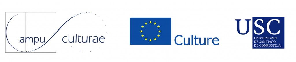 Logotipos de CampUSCulturae, da Unión Europea e da Universidade de Santiago de Compostela.