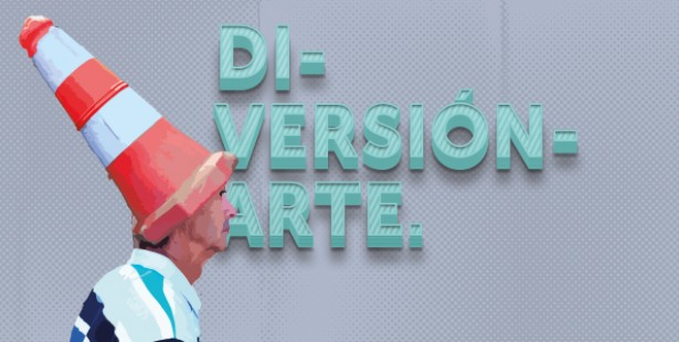 "Fotografía a modo de logotipo de ""Di-versión-arte""."