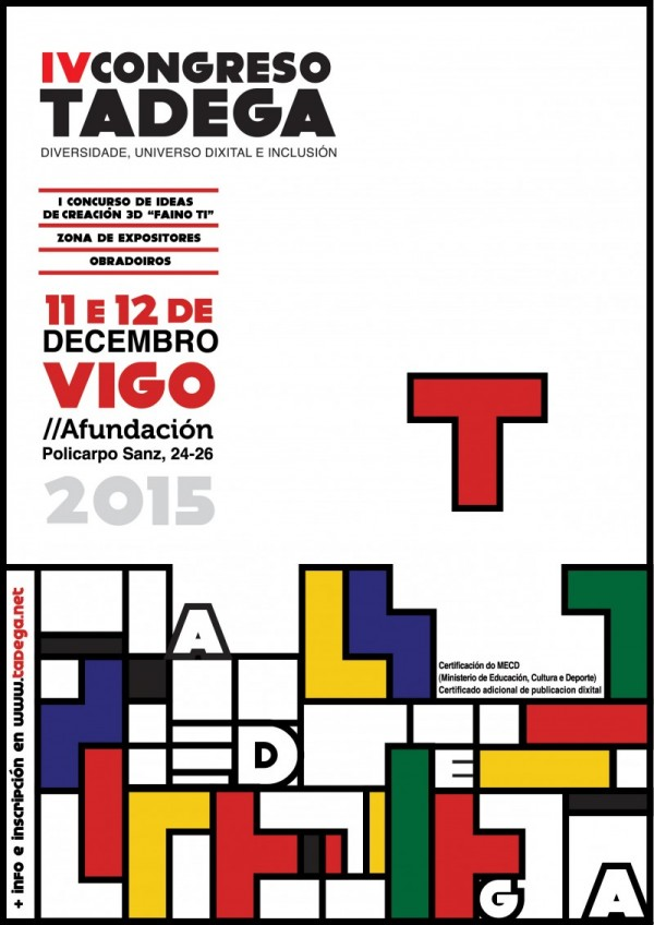 Cartaz anunciador do IV Congreso TADEGa.