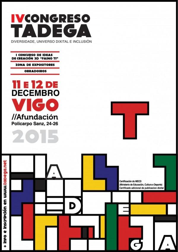 Cartaz anunciador do IV Congreso TADEGa.