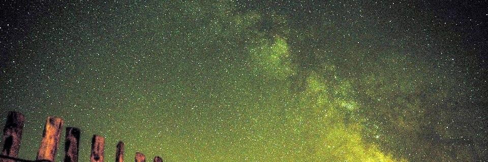 Alegoría da vía láctea, peregrinos de estrelas.