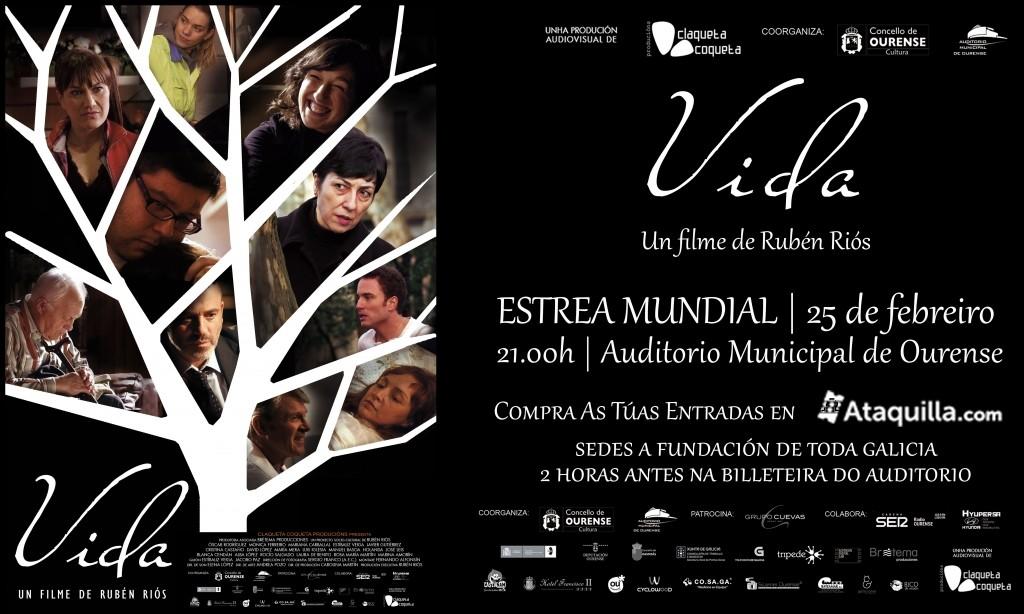 """Cartaz anunciador da película """"Vida""""."""