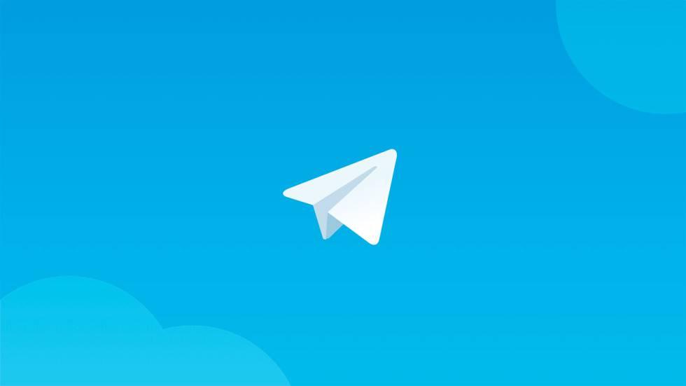 Fondo decorativo alusivo ao programa Telegram.